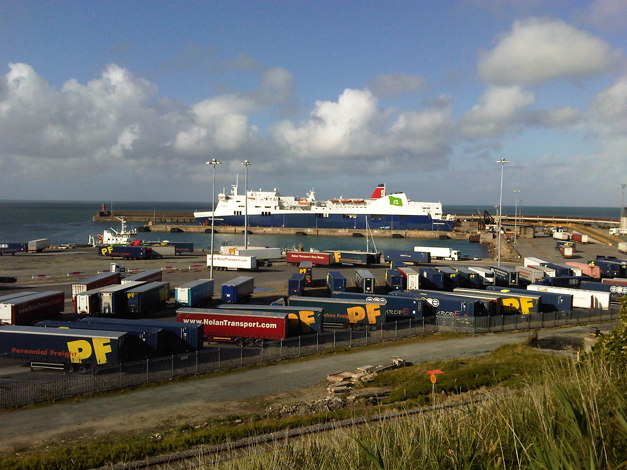 Rosslare ferry port one wheel one island 1000 miles - Rosslare ferry port arrivals ...